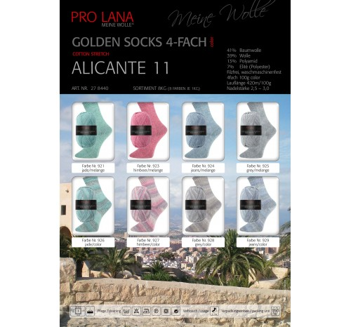 Alicante 11 - Golden Socks Cotton Stretch von Pro Lana