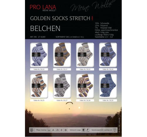 Belchen - Golden Socks Stretch color von Pro Lana