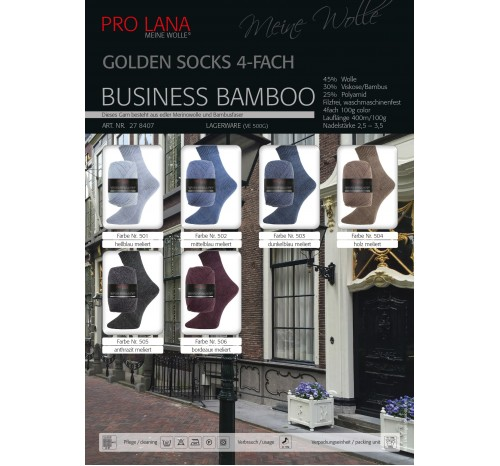 Business Bamboo - Golden Socks von Pro Lana