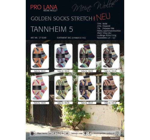 Tannheim 5 - Golden Socks Stretch color von Pro Lana
