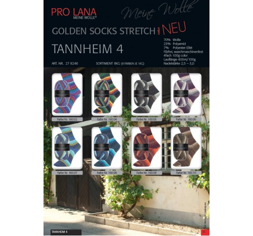"Golden Socks Stretch color ""Tannheim 4"" von Pro Lana"