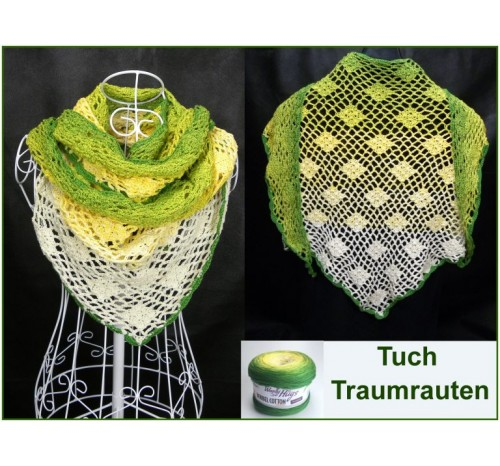 Tuch Traumrauten Aus Woolly Hugs Bobbel Cotton Luftmasche Wolle